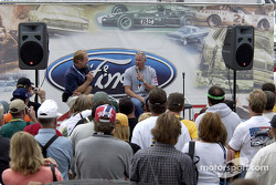 Paul Tracy discusses with Derek Daly