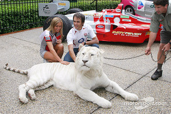 Darren Manning with a tiger