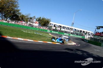 Paul Tracy takes a short cut