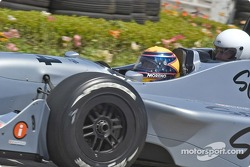 Roberto Moreno takes Tom Cruise around the track in the two-seater Champ Car