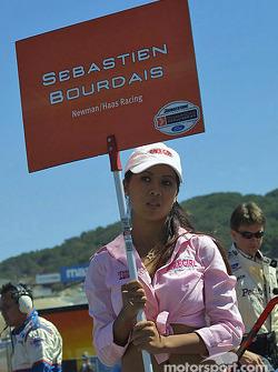 Sébastien Bourdais' grid girl
