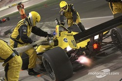 A.J. Allmendinger's crew compleates a pitstop