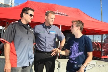 Barry from Mazda Raceway Laguna Seca talks with Frankie Muniz