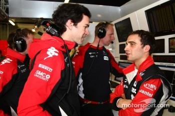 Marc Hynes with Jérôme d'Ambrosio, Marussia Virgin Racing