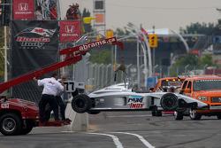 Safety crew at work after the crash of Bruno Andrade, Bryan Herta Autosport and Daniel Herrington, Sam Schmidt Motorsports