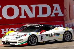 #27 Ferrari of Houston Ferrari 458 Challenge: Mark McKenzie and #8 Ferrari of Ft. Lauderdale Ferrari 458 Challenge battle