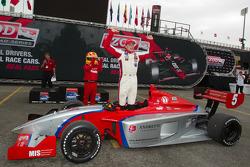 Victory circle: race winner Stefan Wilson, Andretti Autosport