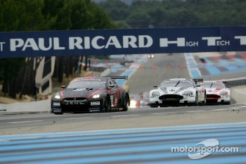 Start: #23 JR Motorsport Nissan GT-R: Michael Krumm, Lucas Luhr leads the field