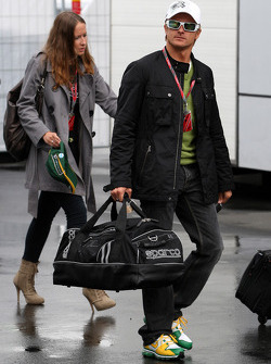 Heikki Kovalainen, Team Lotus, Catherine Hyde girlfriend of Heikki Kovalainen