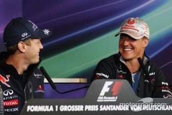 Sebastian Vettel, Red Bull Racing, Michael Schumacher, Mercedes GP F1 Team