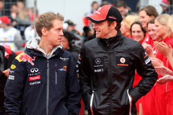 Sebastian Vettel, Red Bull Racing, Jenson Button, McLaren Mercedes