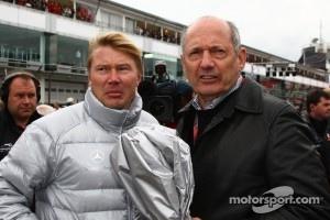 Mika Hakkinen with Ron Dennis, McLaren