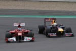 Fernando Alonso, Scuderia Ferrari and Sebastian Vettel, Red Bull Racing