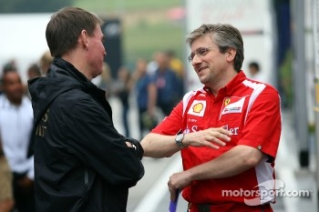 Alan Permaine, Lotus Renault GP, Engineer and Pat Fry Ferrari technical director