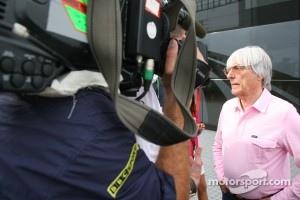 Bernie Ecclestone with the BBC