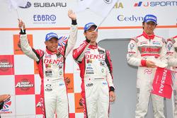 Podium GT500 2nd Place: #39 Denso Sard SC430: Hiroaki Ishiura, Takuto Iguchi