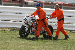 Marshals recover Haga's bike