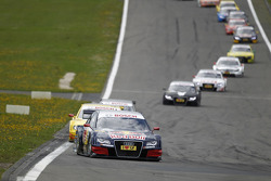 Start of the Race, Mattias Ekström, Audi Sport Team Abt Audi A4 DTM lead the field