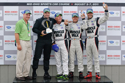 Michelin Green X Challenge podium: LMP winners Lucas Luhr and Klaus Graf