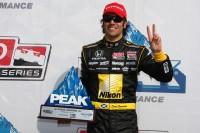 Pole winner Dario Franchitti, Target Chip Ganassi Racing