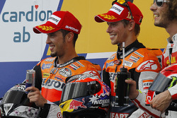 Podium: race winner Casey Stoner, Repsol Honda Team, second place Andrea Dovizioso, Repsol Honda Team