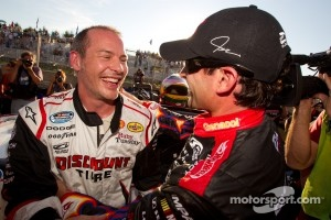 2011 Pole winner Jacques Villeneuve and second place Alex Tagliani