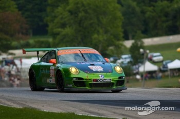 #34 Green Hornet/ Black Swan Racing Porsche 911 GT3 Cup: Peter LeSaffre, Jaap van Lagen