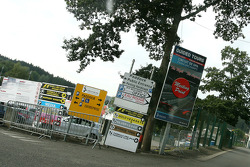 Track main entrance