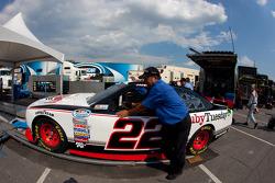 Car of Jacques Villeneuve, Penske Racing Dodge at technical inspection