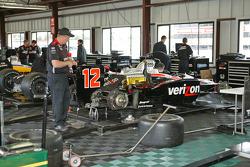 Team Penske paddock area