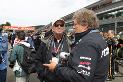 Eric Clapton with Norbert Haug, Mercedes, Motorsport chief