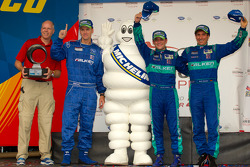 Michelin Green X podium: GT winners Bryan Sellers and Wolf Henzler
