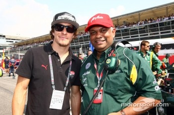 Nicky Hayden, MotoGP rider and Tony Fernandes