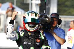 Antonio Felix Da Costa celebrates victory in parc ferme