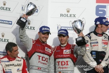 LMP1 podium: second place Timo Bernhard and Marcel Fässler