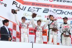 Podium GT300 2nd place: #14 Sg Changi IS350: Ryo Orime, Alexandre Imperatori