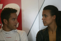 Timo Scheider, Audi Sport Team Abt Audi A4 DTM with his girlfriend Jessica Hinterseer
