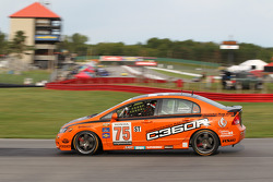 #75 Compass360 Racing Honda Civic SI: Ryan Eversley, Craig Stanton