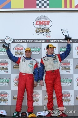 GT podium: class winners Ronnie Bremer and Robin Liddell