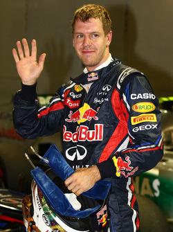 Pole winner Sebastian Vettel, Red Bull Racing