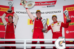 458 podium: class and overall winner #22 Ferrari of Ft. Lauderdale Ferrari 458 Challenge: Enzo Potolicchio, second place #27 Ferrari of Houston Ferrari 458 Challenge: Mark McKenzie, third place #77 Ferrari of Silicon Valley Ferrari 458 Challenge: Harry Ch