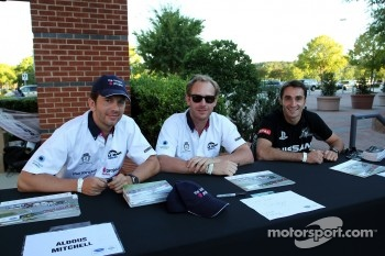 Petit Le Mans pre-race party: Aldous Mitchel,  Jordan Grogor, Bassam Kronfli