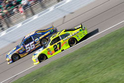 Paul Menard, Richard Childress Racing Chevrolet and Martin Truex Jr., Michael Waltrip Racing Toyota
