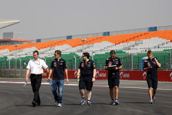 Sebastian Vettel, Red Bull Racing walks the track
