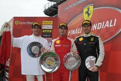 Ferrari Challenge race 1 podium