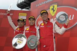 Trofeo Pirelli Ferrari Asia Pacific Challenge race 1 podium