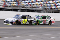 Jimmie Johnson and Dale Earnhardt Jr., Hendricks Motorsports Chevrolet