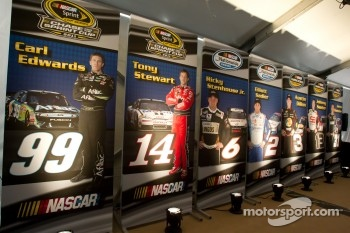 Championship contenders press conference: posters of the championship contenders