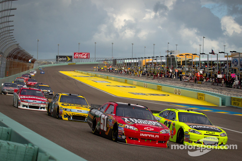 Landon Cassill, Chevrolet and Paul Menard, Richard Childress Racing Chevrolet