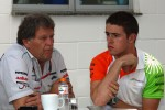 Norbert Haug, Mercedes, Motorsport chief and Paul di Resta, Force India F1 Team